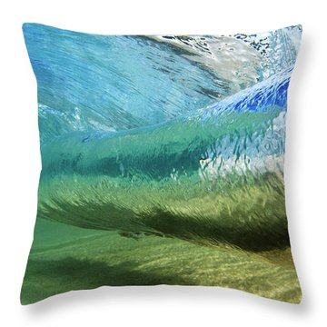 Underwater Wave Curl Throw Pillow