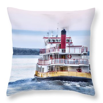 Throw Pillow featuring the photograph Underway by Richard Bean
