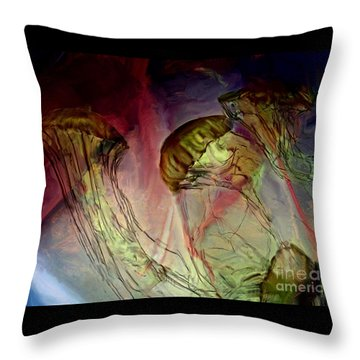 Throw Pillow featuring the photograph Underwood Balie by Irma BACKELANT GALLERIES