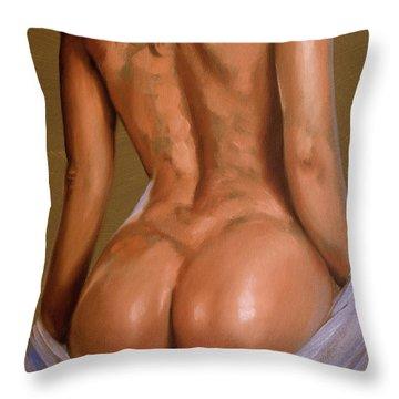 Undressing Throw Pillow