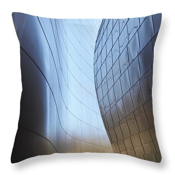 Undulating Steel Throw Pillow