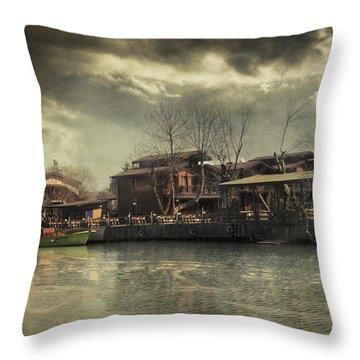 Une Belle Journee Throw Pillow by Taylan Apukovska