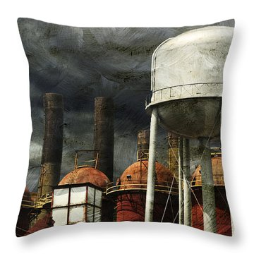Uneasy Day Throw Pillow