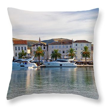 Unesco Town Of Trogit View Throw Pillow by Brch Photography