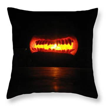 Throw Pillow featuring the sculpture Unethicor Devourer Of Souls by Shawn Dall