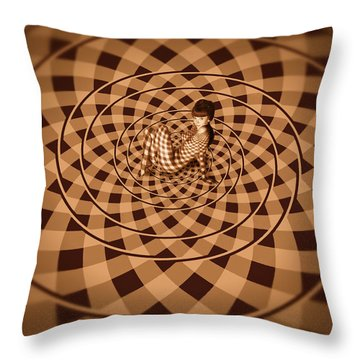 Unexpected Vortex Of Love Throw Pillow