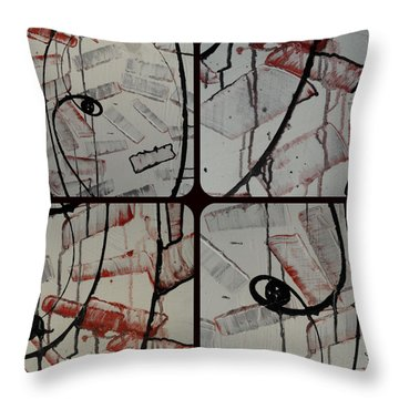 Throw Pillow featuring the photograph Unfaithful Desire Part Two by Sir Josef - Social Critic - ART