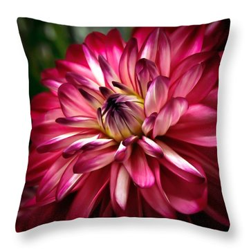 Dahlia Unfolding Throw Pillow