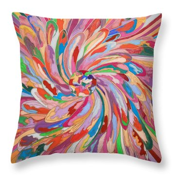 Unfolding Melody Throw Pillow