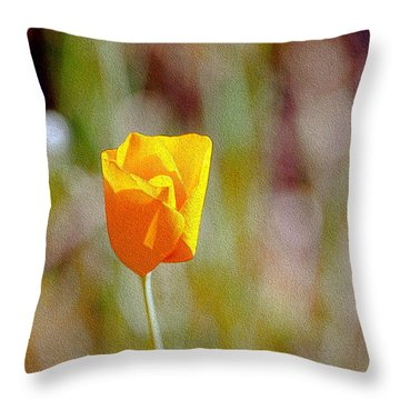 Throw Pillow featuring the photograph Unfolding Poppy by William Havle