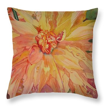 Unfolding Throw Pillow by Tara Moorman