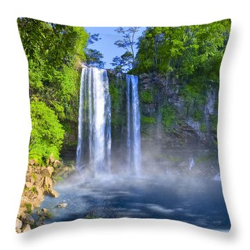 Throw Pillow featuring the photograph Unforgettable Waterfalls Of Chiapas Mexico by Mark E Tisdale