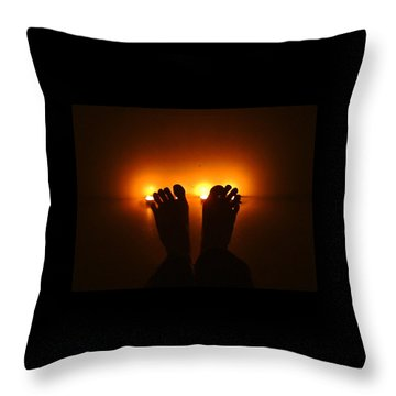Throw Pillow featuring the photograph Unfreeze Your Feet by Marc Philippe Joly