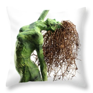 Unfurled Detail Throw Pillow by Adam Long