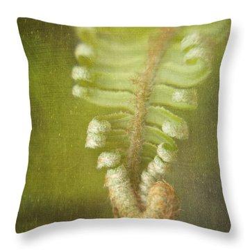 Unfurling Fern Throw Pillow