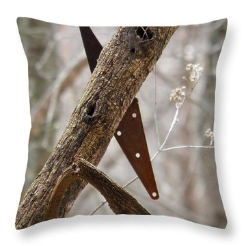 Throw Pillow featuring the photograph Unhinged by Nick Kirby