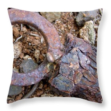 Unhitched Throw Pillow by Mary Deal