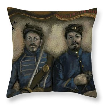 Unidentified Union Soldiers Throw Pillow