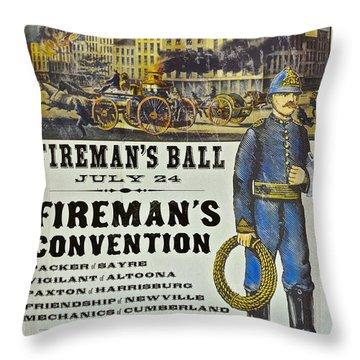 Union Fire Centennial Throw Pillow
