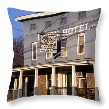 Union Hotel Throw Pillow by Skip Willits