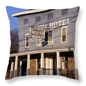 Union Hotel Throw Pillow