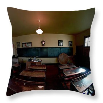 Union  Illinois One Room School House Throw Pillow