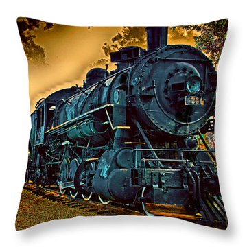 Throw Pillow featuring the photograph Union Pacific 6051 2 by Joseph Hollingsworth