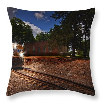 Union Pacific 7917 Train Throw Pillow