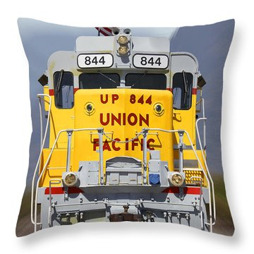 Union Pacific 844 On The Move Throw Pillow