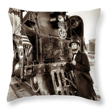 Throw Pillow featuring the photograph Union Pacific 844 by Tim Stanley
