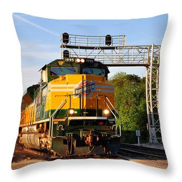 Union Pacific Chicago And North Western Heritage Unit Throw Pillow