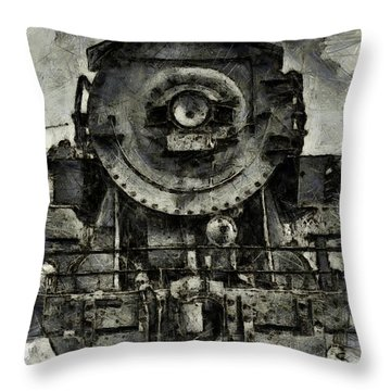 Throw Pillow featuring the photograph Union Pacific Locomotive 6051 by Joseph Hollingsworth