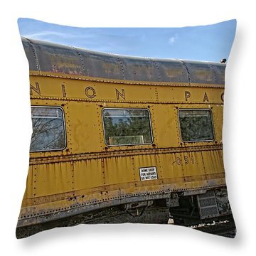Union Pacific Throw Pillow by Peggy Hughes