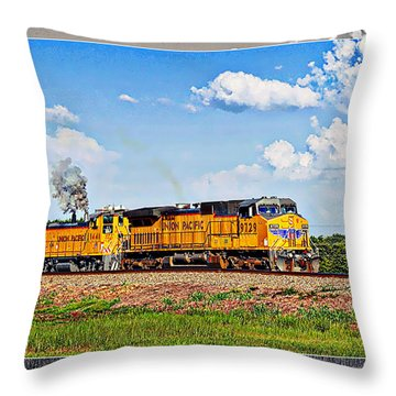 Union Pacific Railroad 2 Throw Pillow