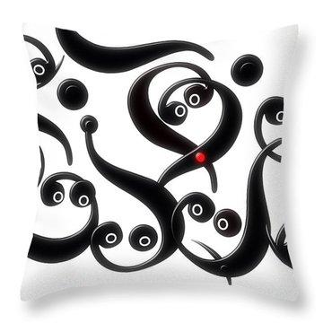 Throw Pillow featuring the digital art Union by Selke Boris