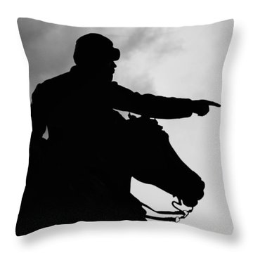 Union Silhouette  Throw Pillow