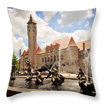 Union Station 1 Throw Pillow by Marty Koch