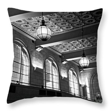 Union Station Balcony - New Haven Throw Pillow