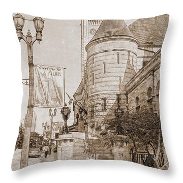 Union Station St Louis Mo Throw Pillow