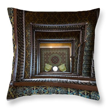 Union Station Stairway Throw Pillow