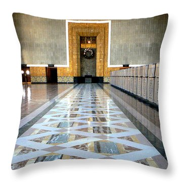 Union Station Ticket Counter Throw Pillow