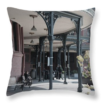 Union Street Station Throw Pillow by Patricia Babbitt