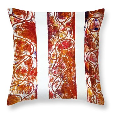 Unique Abstract Throw Pillow by Yael VanGruber