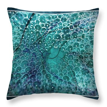 Throw Pillow featuring the photograph Unique Bubbles by Michaela Preston