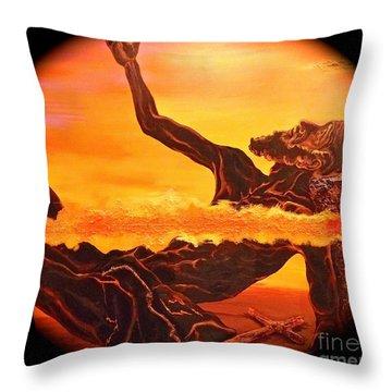 Unique Christian Art Throw Pillow