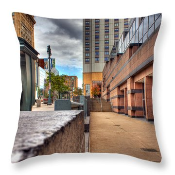 Unique City View Throw Pillow by Tim Buisman