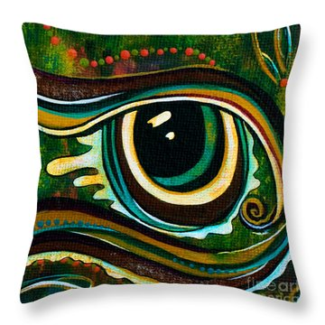 Throw Pillow featuring the painting Unique Spirit Eye by Deborha Kerr