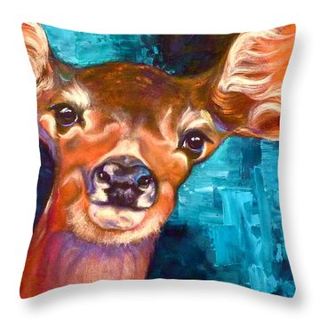 Uniquely Fawn Throw Pillow