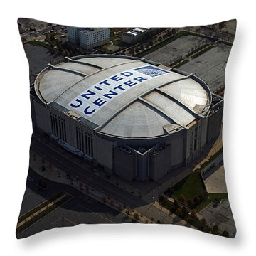 United Center Chicago Sports 09 Throw Pillow by Thomas Woolworth