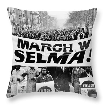 United For Justice Throw Pillow by Benjamin Yeager